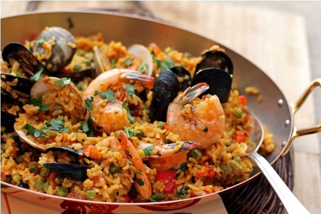 Post image for Spicy Andalusian Seafood Paella