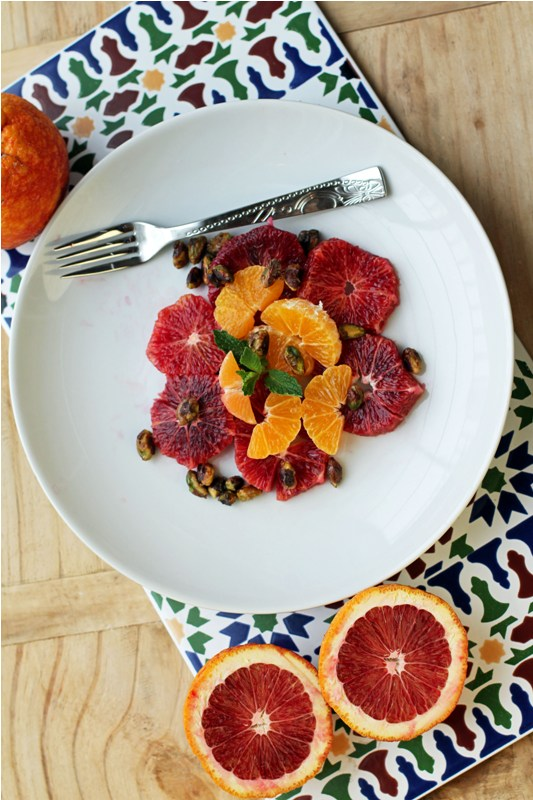 Post image for Blood Orange & Clementine Salad Garnished w/ Caramelized Pistachios